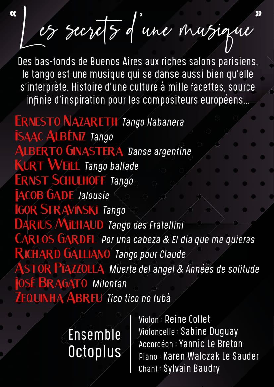 Tango, Liberté Et Passion Flyer-2
